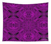 Purple Crossed Arrows Abstract Tapestry