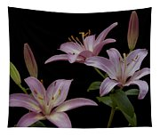 Purple Day Lilies Tapestry