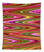Purple Flowers Abstract Tapestry