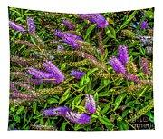 Purple Flowers Of Chiloe Tapestry