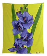 Purple Gladiolas Tapestry