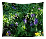 Purple Hanging Flowers Tapestry