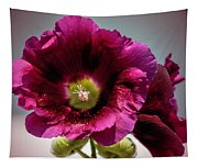 Purple Hollyhock Tapestry