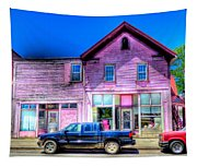Purple House Tapestry
