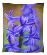 Purple Hyacinths Digital Art Tapestry