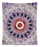 Purple Mosaic Mandala - Abstract Art By Linda Woods Tapestry