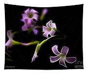 Purple On Black Tapestry