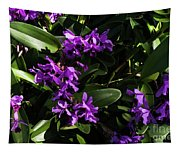 Purple Orchid Plant Tapestry