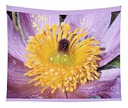 Purple Pasque Flower With Pollen Tapestry