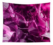 Purple Rose And Pansy Tapestry