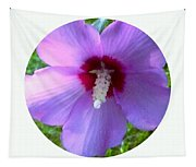 Purple Rose Of Sharon In Circle Frame Tapestry