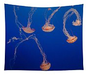 Purple Striped Jellies Tapestry
