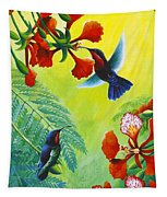 Purple-throated Caribs And Flamboyant Tapestry