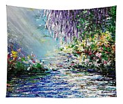Purple Tree By The Lake Tapestry