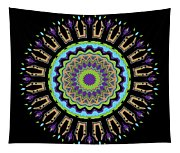 Purple Tulips Mandala Tapestry