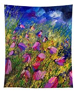 Purple Wild Flowers  Tapestry