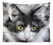 A Cat With Green Eyes Tapestry