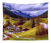 Quaint Bavarian Village Tapestry