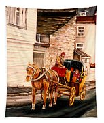 Quebec City Carriage Ride Tapestry