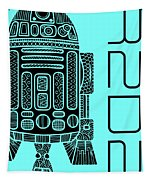 R2d2 - Star Wars Art - Blue Tapestry