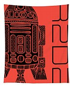 R2d2 - Star Wars Art - Red Tapestry