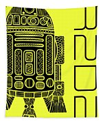 R2d2 - Star Wars Art - Yellow Tapestry