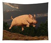 Racing Pig Tapestry