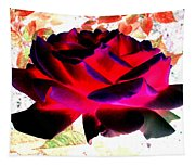 Radiant Red Rose Tapestry