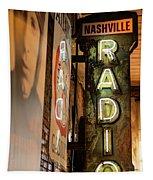 Radio Nashville Sign Tapestry