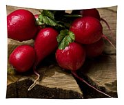 Radishes On Wood Tapestry