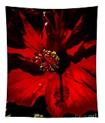 Raging Red Hibiscus Tapestry