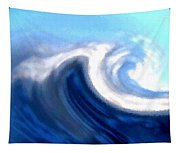 Raging Sea Tapestry