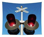 Railroad Crossing Lights Tapestry