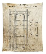 Railroad Switch Patent Tapestry