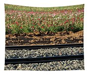 Rails And Roses Tapestry