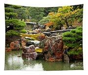 Rain On Kyoto Garden Tapestry