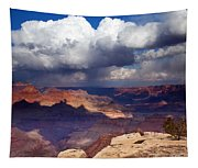 Rain Over The Grand Canyon Tapestry
