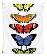 Rainbow Butterflies Tapestry