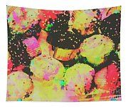 Rainbow Color Cupcakes Tapestry