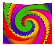 Rainbow Coloured Cock Swirl H B Tapestry