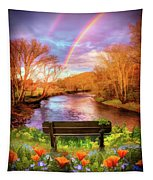 Rainbow Dreams Abstract Tapestry