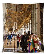 Rainbow Girl In The Hall Of Mirrors Tapestry