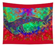 Rainbow Hammerhead Shark Tapestry