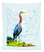 Rainbow Heron Tapestry