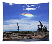 Rainbow In The Clouds Tapestry