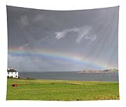 Rainbow, Island Of Iona, Scotland Tapestry
