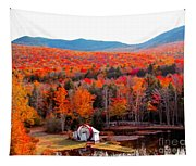 Rainbow Of Autumn Colors Tapestry
