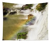 Rainbow On The Falls Tapestry
