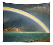 Rainbow Over Jenny Lake Wyoming Tapestry