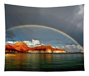 Rainbow Over Lake Powell Tapestry